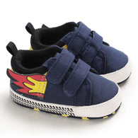 [105253-NAVY] - Stylish Shoes / Sepatu Anak Prewalker Import - Motif Fire Accessories
