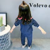 [102246-NAVY] - Setelan Korean Style Anak Perempuan Import - Motif School Uniforms