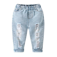 jual [119147] - 100%IMPORT Celana Jeans Anak Rips Sky Blue 3 - 7 Thn