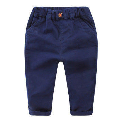 jual [119151-BLUE NAVY] - IMPORT Celana Panjang Jeans Anak Casual Slim Fit - Motif Solid Color
