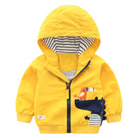 jual [119163-YELLOW] - Atasan Jaket Hoodie Anak Animal - Motif Crocodile