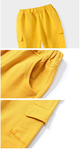 jual [119197-YELLOW] - Celana Panjang Cargo Anak Sporty - Motif Solid Color