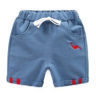 [119200-BLUE] - Celana Pendek Training Anak Sporty - Motif Embroidery Animal