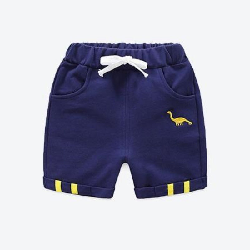 jual [119200-NAVY] - Celana Pendek Training Anak Sporty - Motif Embroidery Animal