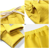 jual [119205-YELLOW] - Celana Training Jogger Anak Sporty - Motif Outside Pocket