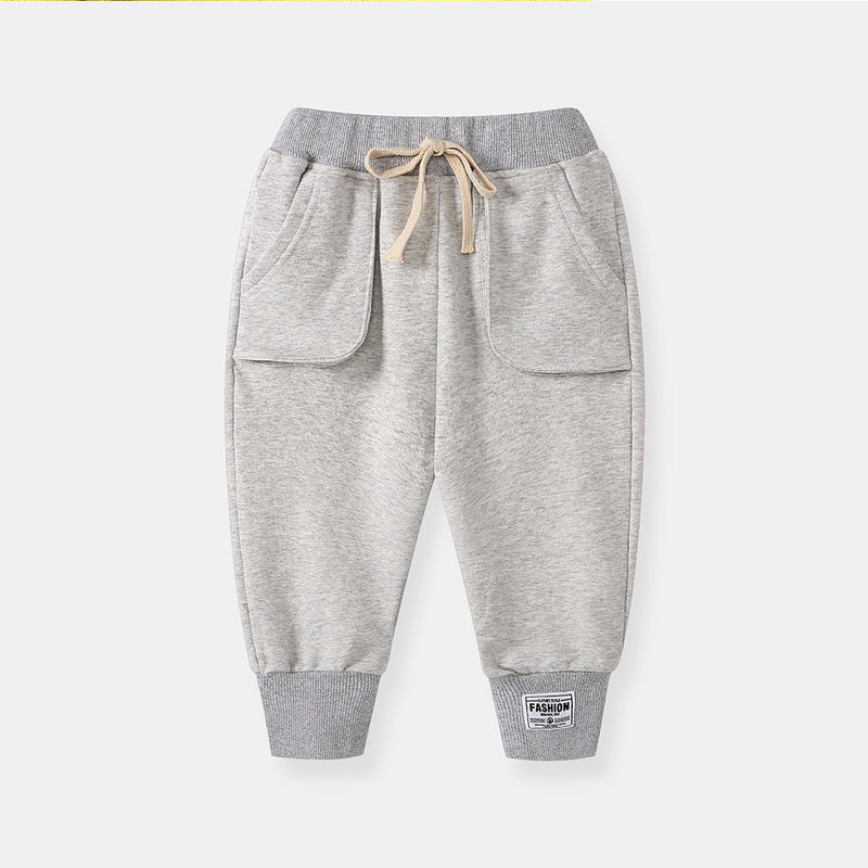 jual [119205-LIGHT GRAY] - Celana Training Jogger Anak Sporty - Motif Outside Pocket