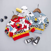 [358107-RED] - Atasan Sweater Anak / Sweater Anak Kekinian - Motif Hi Elmo Twol