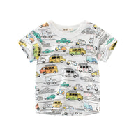jual [121168] - IMPORT Atasan / T-shirt / Kaos Anak Usia 2 - 4 Thn - Motif All Land Transportion