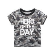 jual [121187] - IMPORT Atasan Kaos Anak Usia 2 - 4 Thn - Motif Hero Of The Day
