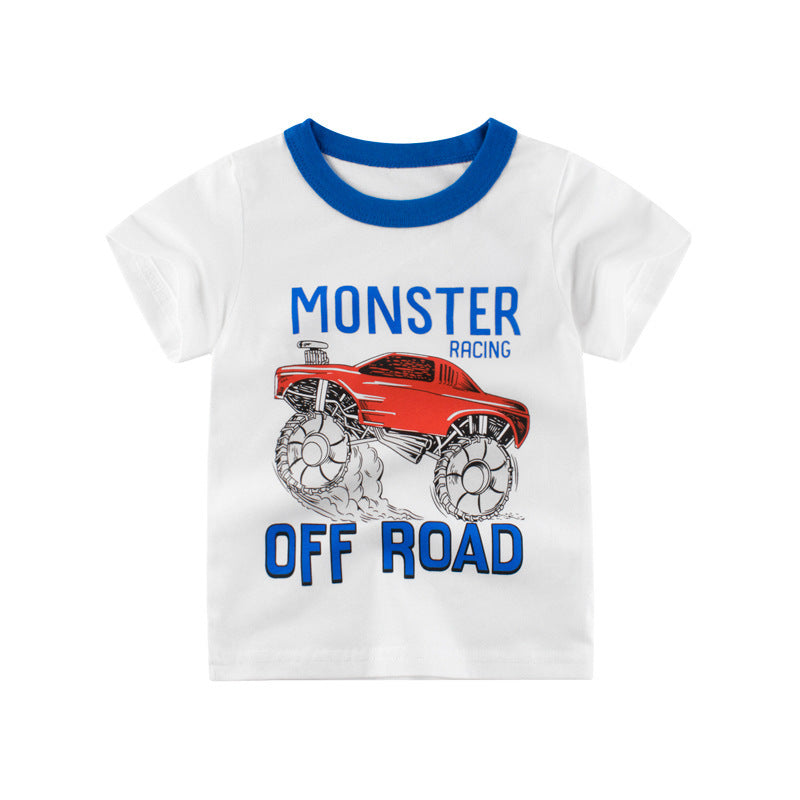 [121224] - Atasan Anak Import / Kaos Anak Trendi - Motif Monster Car