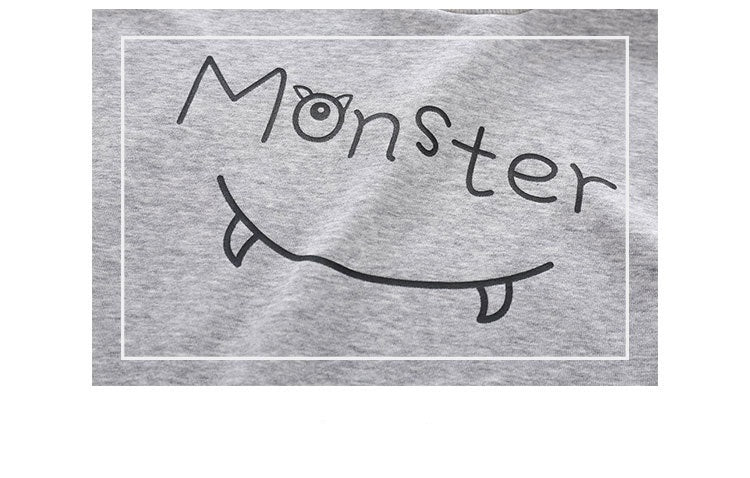 [119212-GRAY] - Atasan Anak / Atasan Sweater Hypes Anak Stylish - Motif Alphabet Monster
