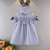 [363157] - Dress Fashion Anak Perempuan Modis / Dress Anak Import - Motif Chest Tape