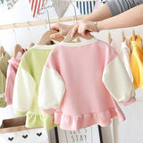 [362133-GREEN] - Dress Sweater Anak Perempuan Trendi - Motif Girl in Heart