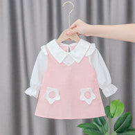 [352172] - Dress Import 3D Anak Perempuan High Fashion - Motif Two Flowers