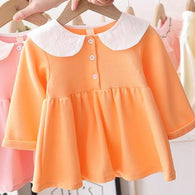 [362131-ORANGE] - Dress Anak Perempuan Trendi - Motif Big Rabbit Lace