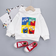 [345168-WHITE] - Atasan Sweater Hoodie Anak Modish / Atasan Anak Import - Motif Cookie Mons Thinking