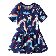 [357438] - Dress Anak Perempuan Modis / Dress Anak Import - Motif Unicorn Balloon