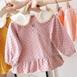 [362107-PINK] - Dress Anak Perempuan Trendi - Motif Little Polkadot Rabbit