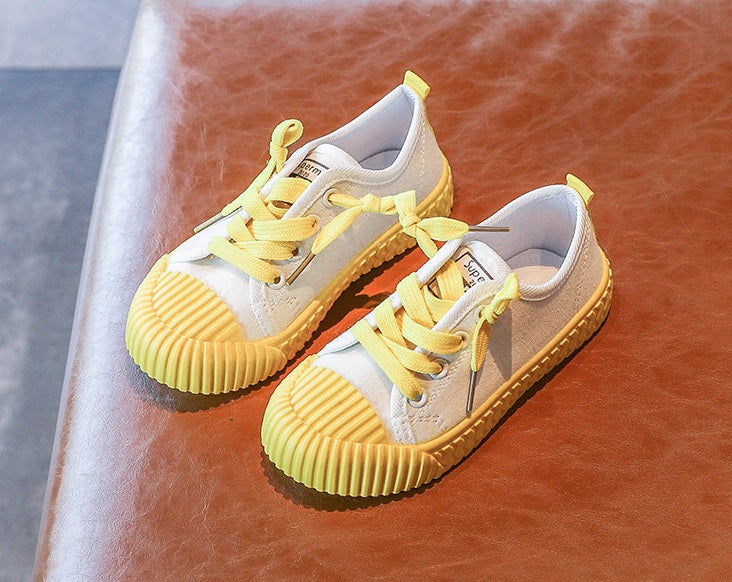[365111-YELLOW WHITE] - Import Sepatu Modis Anak Kekinian - Motif Color Rope