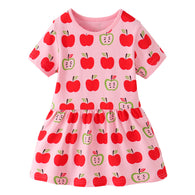 [357411] - Dress Import Anak Perempuan Modis / Dress Anak Perempuan - Motif Apple Pattern