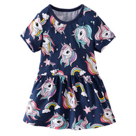 [357440] - Dress Anak Perempuan Modis / Dress Anak Import - Motif Unicorn Style