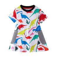 [357419] - Dress Import Anak Perempuan Modis / Dress Anak Perempuan - Motif Dino Full Color