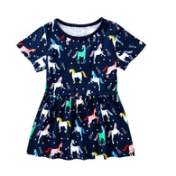 [357439] - Dress Anak Perempuan Modis / Dress Anak Import - Motif Beautiful Unicorn