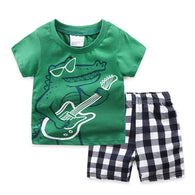 [354337] - Baju Setelan Street Wear Anak Import Sleek Style - Motif Crocodile Guitar Player