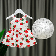 [352183] - Import Dress Pantai Anak Perempuan - Motif Strawberry Pattern