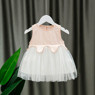 [352179-PINK] - Dress Import Anak Perempuan High Fashion - Motif Gingham Butterfly