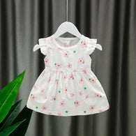 [352186] - Dress Import Anak Perempuan High Fashion - Motif Five Pistil Flowers