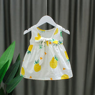 [352205] - Dress Import Anak Sweet Fashion / Dress Anak Perempuan - Motif Pineapple Pattern