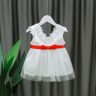 [352211] - Dress Import Anak Perempuan Fancy Dress - Motif Lace Collar