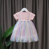 [352235] - Dress Import Anak Perempuan High Fashion - Motif Full Color Combination