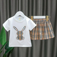 [352237] - Setelan Import Anak Perempuan High Fashion - Motif Tartan Color Rabbit