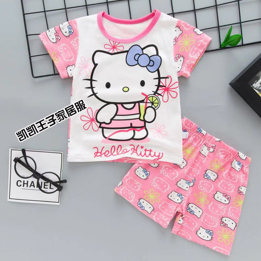 jual [2251111] - Summer Wear Anak Usia 1 - 6 Thn - Motif Cartoon Hello Kitty