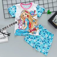 jual [2251113] - Summer Daily Set Anak Usia 1 - 6 Thn - Motif Cartoon Barbie