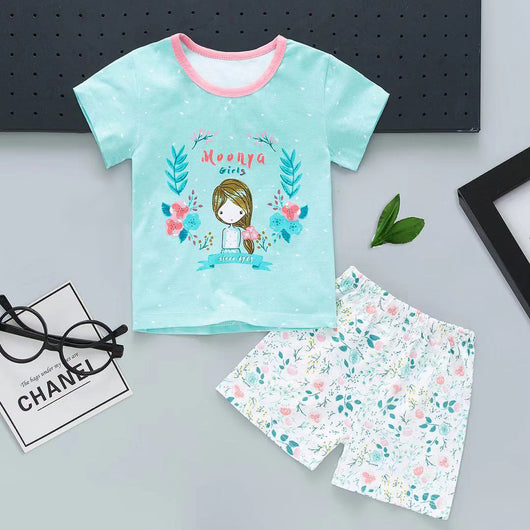 jual [2251114] - Summer Daily Set Anak Usia 1 - 6 Thn - Motif Cartoon Anime Girl