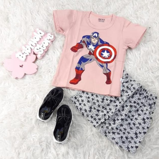 jual [2251197] - Daily Wear Anak Usia 1 - 9 Thn - Motif Action Captain America