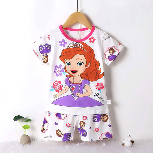 jual [2251213] - Daily Wear Anak Usia 9 Bln - 8 Thn - Motif Flowers of Princess Sofia