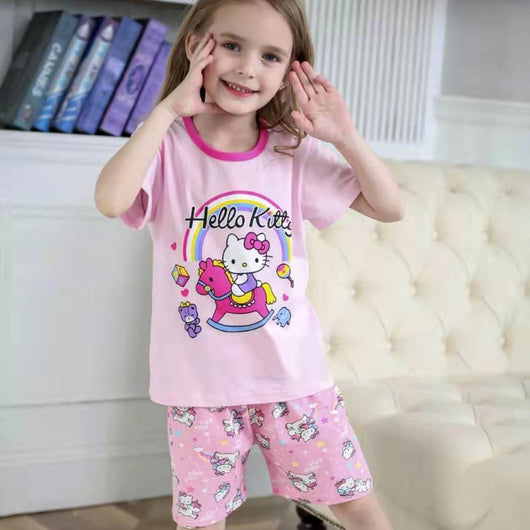 [2251221] - Daily Wear Anak / Setelan Anak - Motif Hello Kitty Under the Rainbow