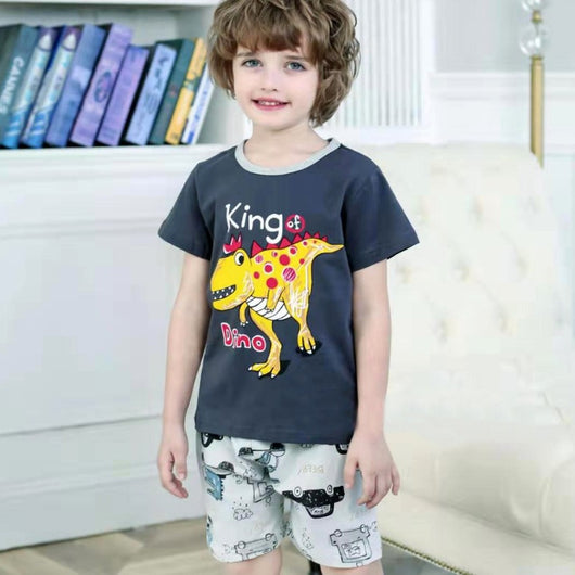 [2251233] - Setelan Anak / Daily Wear Anak - Motif Horned Dinosaur King