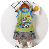 [2251284] - Import Setelan Kutung Anak / Kaos Summer Set Anak - Motif Run Away