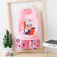 [2251297] - Kaos Summer Set Anak / Import Setelan Kutung Anak - Motif Little Pony Cake