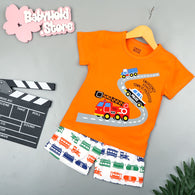 [2251345] - Baju Setelan Santai Anak Import - Motif Emergency Vehicle