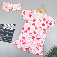 [2251379] - Baju Setelan Santai Anak Import - Motif Fresh Strawberry
