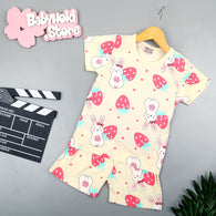 [2251389] - Baju Setelan Santai Anak Import - Motif Strawberry Rabbit