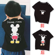 [227182-MOUSE BLACK] - Atasan Anak / Kaos Anak Import - Motif Mickey Mouse