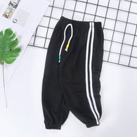 [227186-BLACK] - Celana Training Jogger Anak Sporty - Motif Color Striped