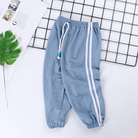 [227186-BLUE] - Celana Training Jogger Anak Sporty - Motif Color Striped